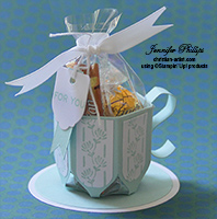 Envelope Punch Board gift cup